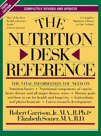 The nutrition desk reference