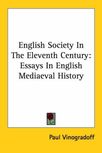 Download English Society in the Eleventh Century