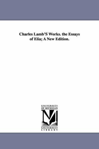 Charles Lamb\'s works.