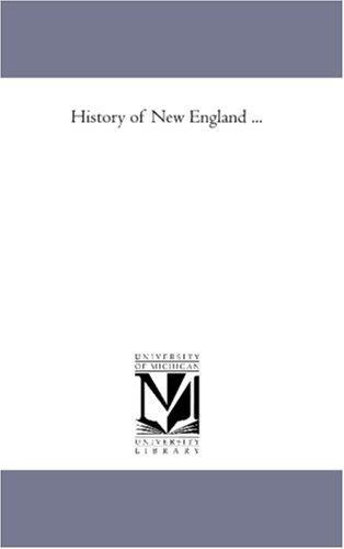 History of New England …