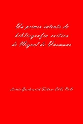 Download Un primer intento de bibliografia critica de Miguel de Unamuno