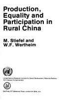 Production, equality, and participation in rural China