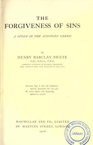 Download The forgiveness of sins