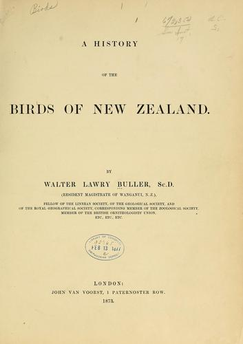 Download A history of the birds of New Zealand
