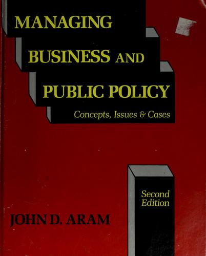 Managing business and public policy