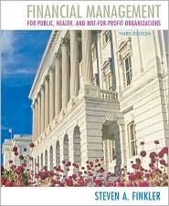 Download Financial management for public, health, and not-for-profit organizations