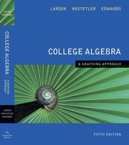 Download College Algebra A Graphing Approach