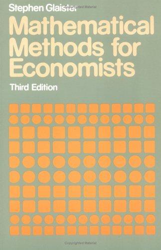 Mathematical methods for economists