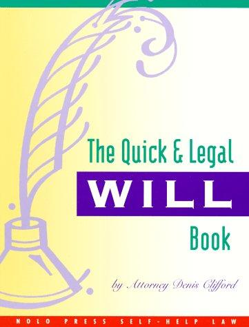 Download The quick & legal will book