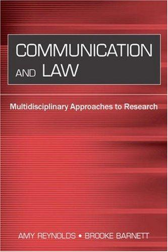 Image for Communication and Law: Multidisciplinary Approaches to Research (Routledge Communication Series)
