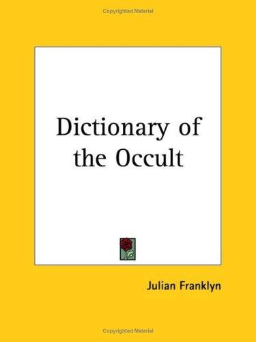 Download Dictionary of the Occult