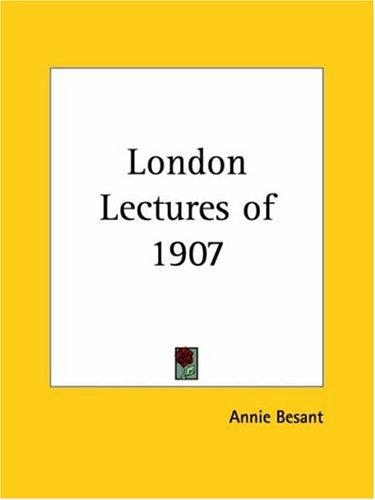 Download London Lectures of 1907