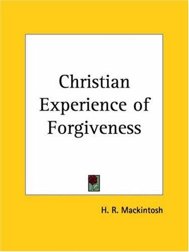 Christian Experience of Forgiveness
