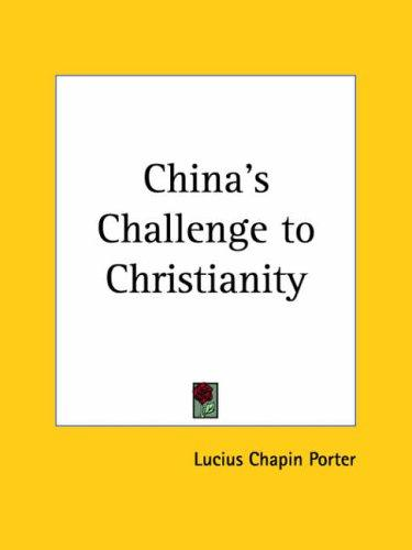 Download China's Challenge to Christianity