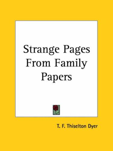 Download Strange Pages From Family Papers