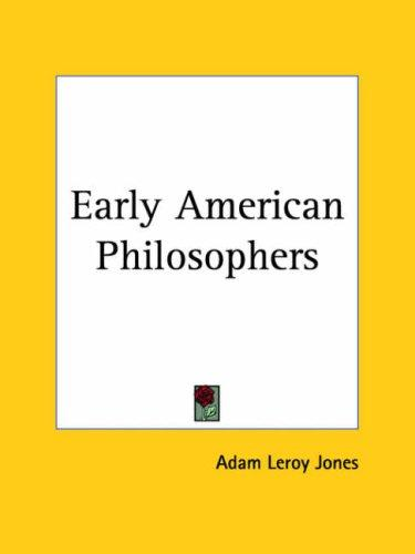 Download Early American Philosophers