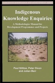 Indigenous Knowledge Inquiries: A Methodologies Manual For Development PDF Download