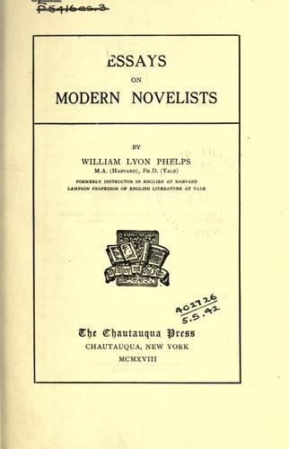 Essays on modern novelists.