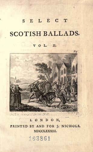 Download Select Scotish ballads.