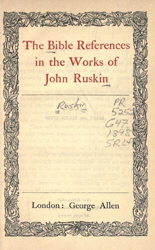 Download The Bible references of John Ruskin