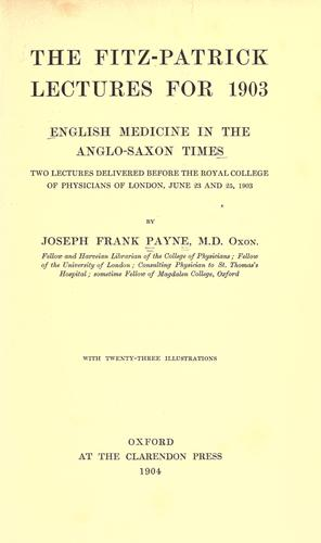 Download English medicine in the Anglo-Saxon times