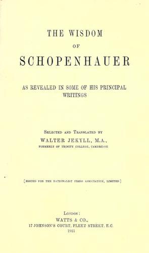 The wisdom of Schopenhauer