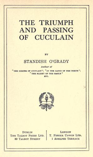 The triumph and passing of Cuculain