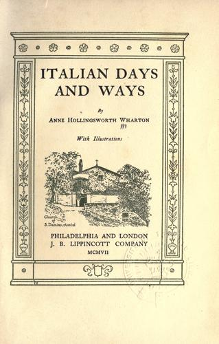 Italian days and ways.