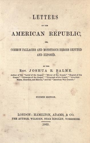 Download Letters on the American republic