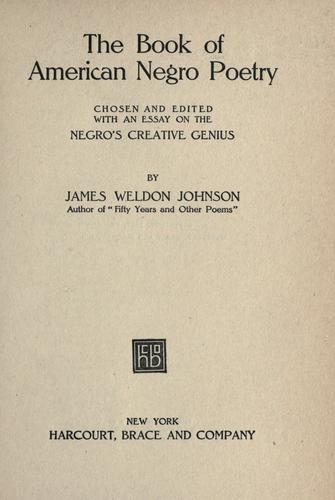 Download The book of American Negro poetry