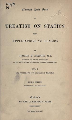 A treatise on statics, with applications to physics.