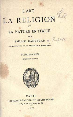 Download L' art, la religion, et la nature en Italie