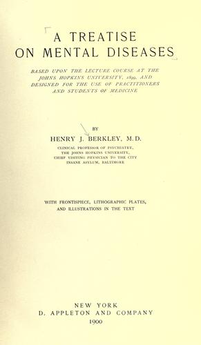 Download A treatise on mental diseases