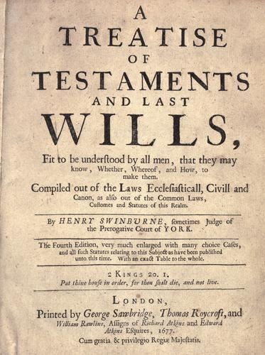 Download A treatise of testaments and last wills