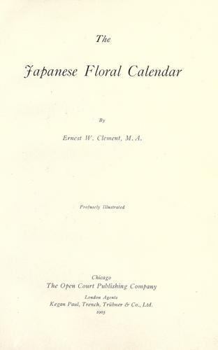 Download The Japanese floral calendar