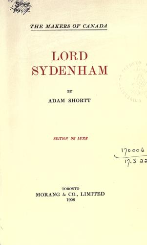 Download Lord Sydenham.