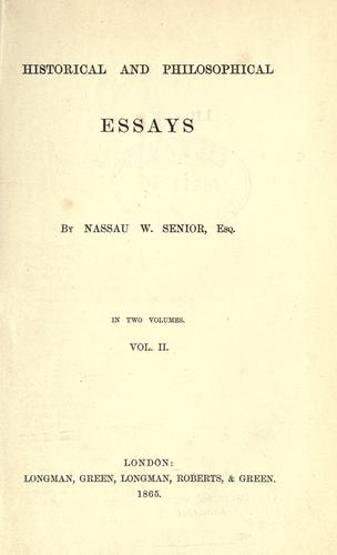 Download Historical and philosophical essays.