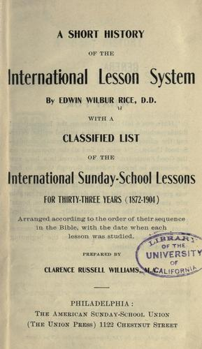 Download A short history of the International lesson system