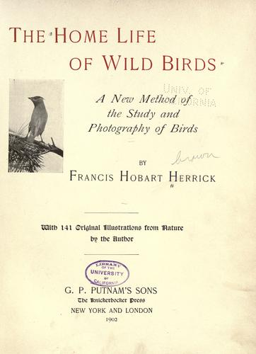 Download The home life of wild birds