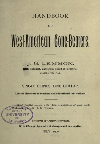 Download Handbook of West-American cone-bearers.
