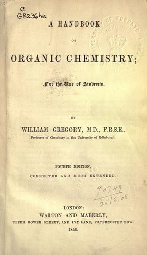 A handbook of organic chemistry.