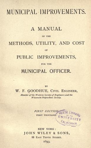Download Municipal improvements.