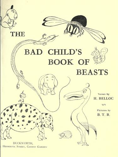 The  bad child's book of beasts