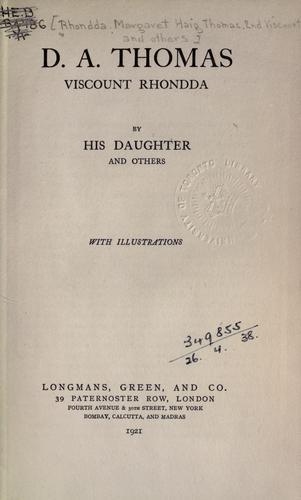Download D.A. Thomas, Viscount Rhondda