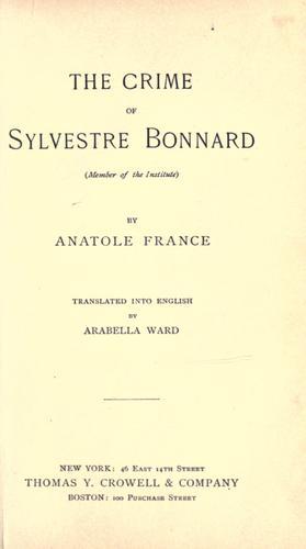 Download The crime of Sylvestre Bonnard.