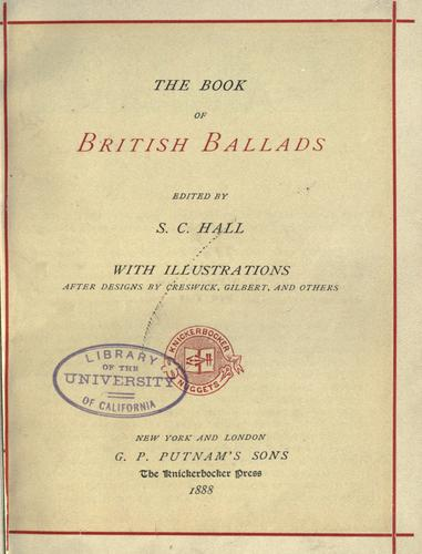 Download The book of British ballads