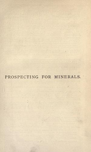 Prospecting for minerals