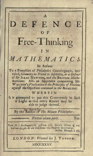 A Defence of Free-Thinking in Mathematics.