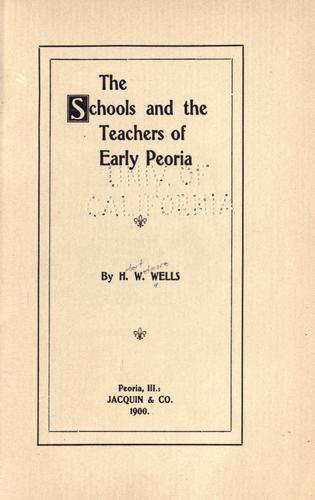 The schools and the teachers of early Peoria