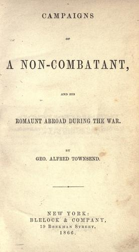 Download Campaigns of a non-combatant